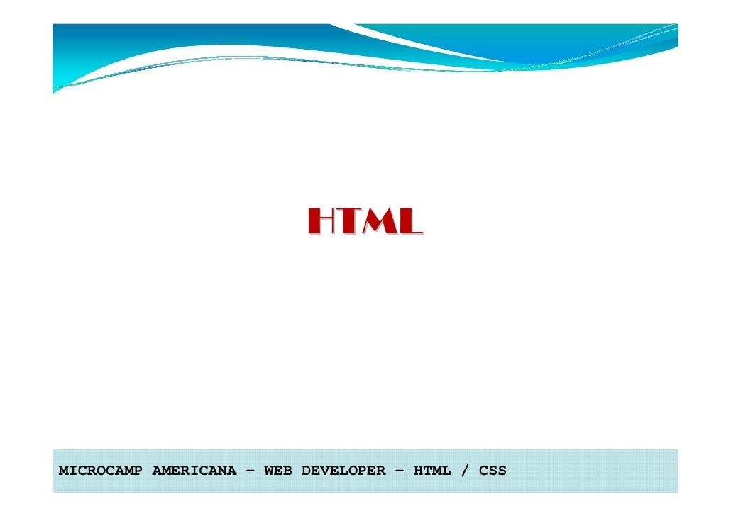 HTMLMICROCAMP AMERICANA – WEB DEVELOPER – HTML / CSS
