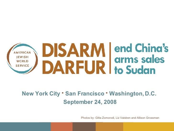 Disarm Darfur Vigil Slideshow