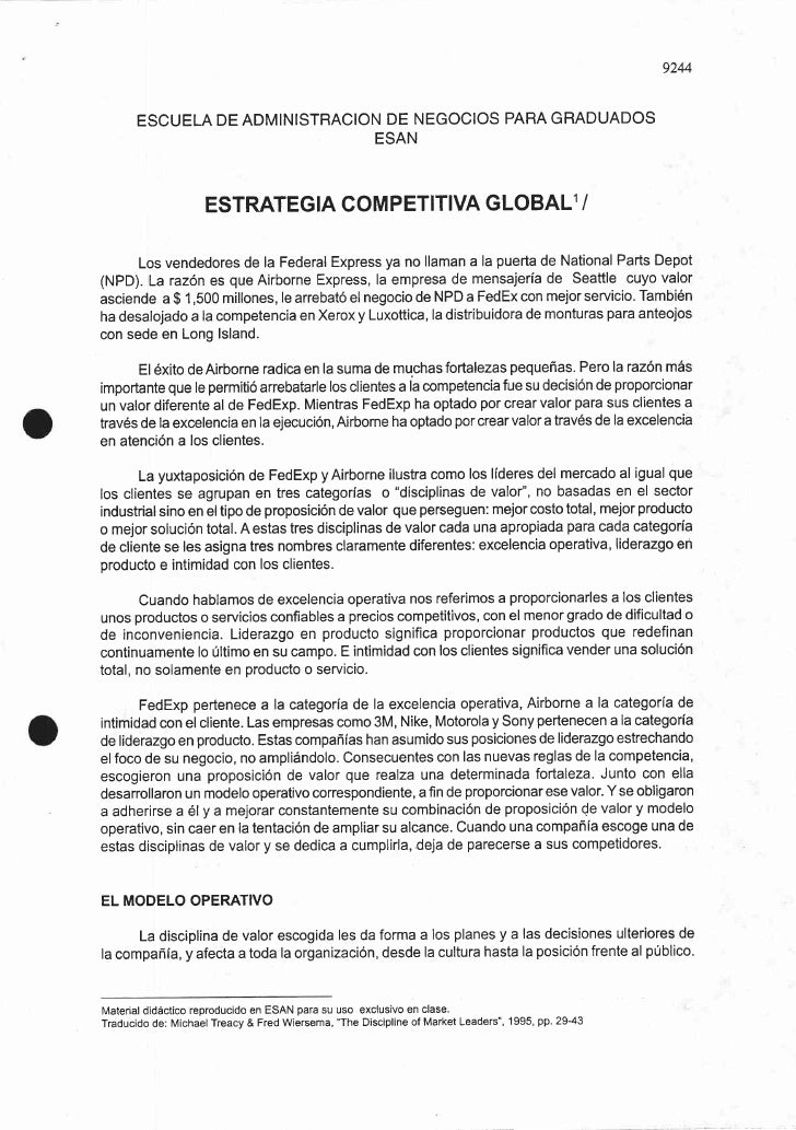 Estrategia competitiva global