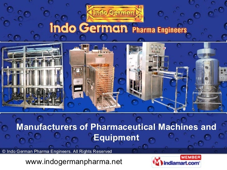 Manufacturers of Pharmaceutical Machines and Equipment