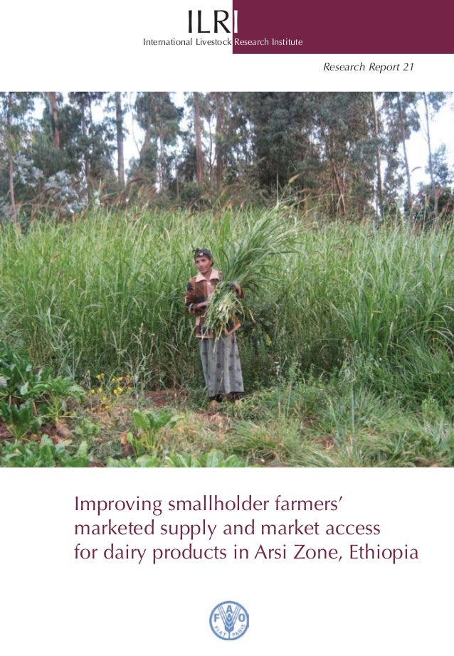 Improving Smallholder Farmers' Marketed Supply and Market Access for Dairy Products in Arsi Zone, Ethiopia