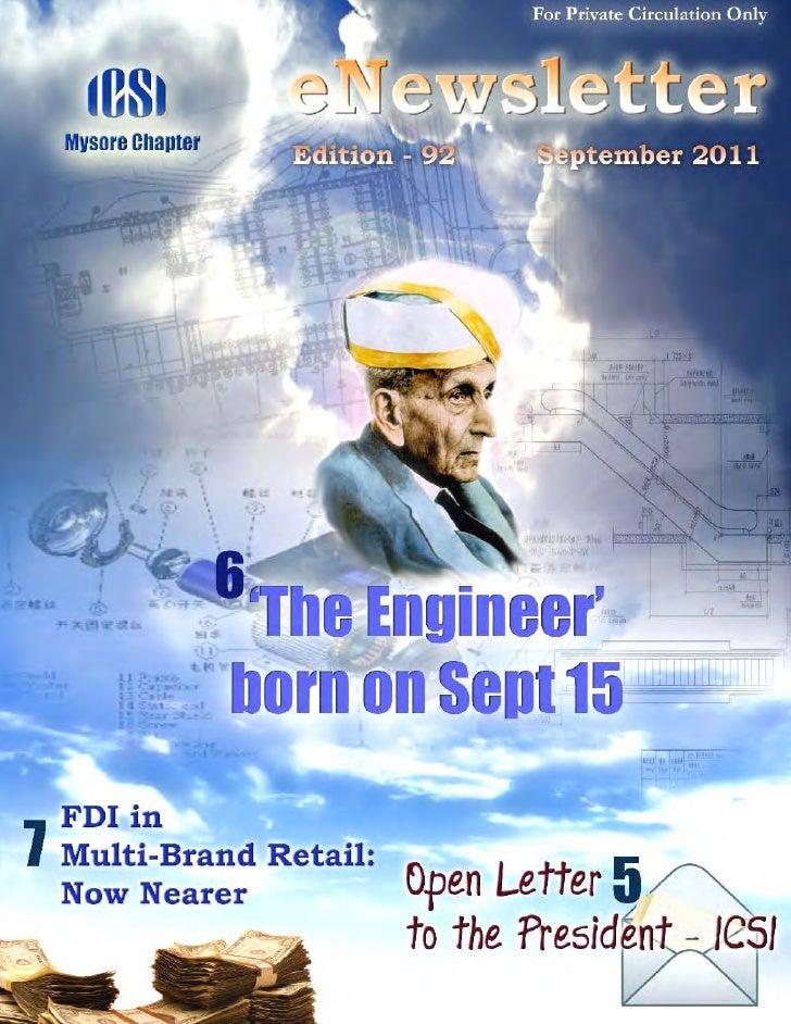 92 icsi mysore e newsletter september 2011