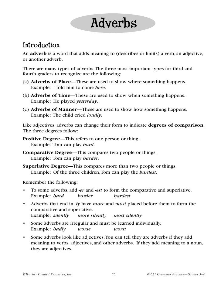 List of Adverbs For Kids Adverb Listhave Children List