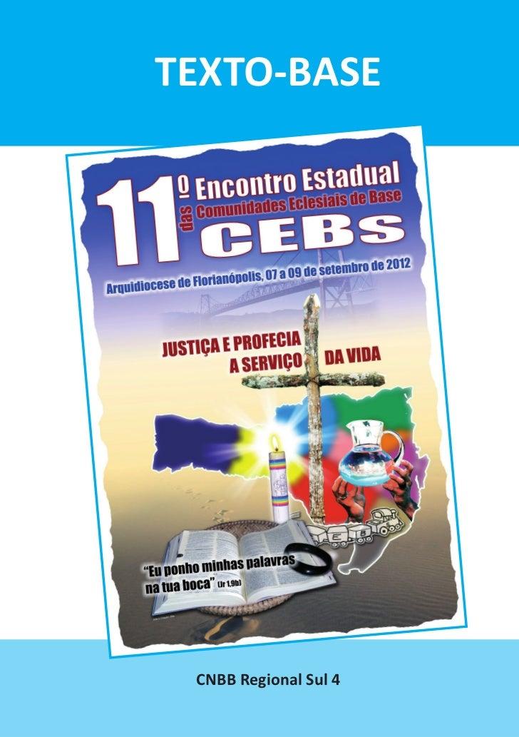 Texto-base - 11º Encontro de CEBs - 2012- Arquidiocese de Florianópolis