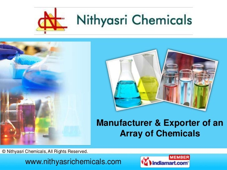Manufacturer & Exporter of an                                                  Array of Chemicals© Nithyasri Chemicals, Al...