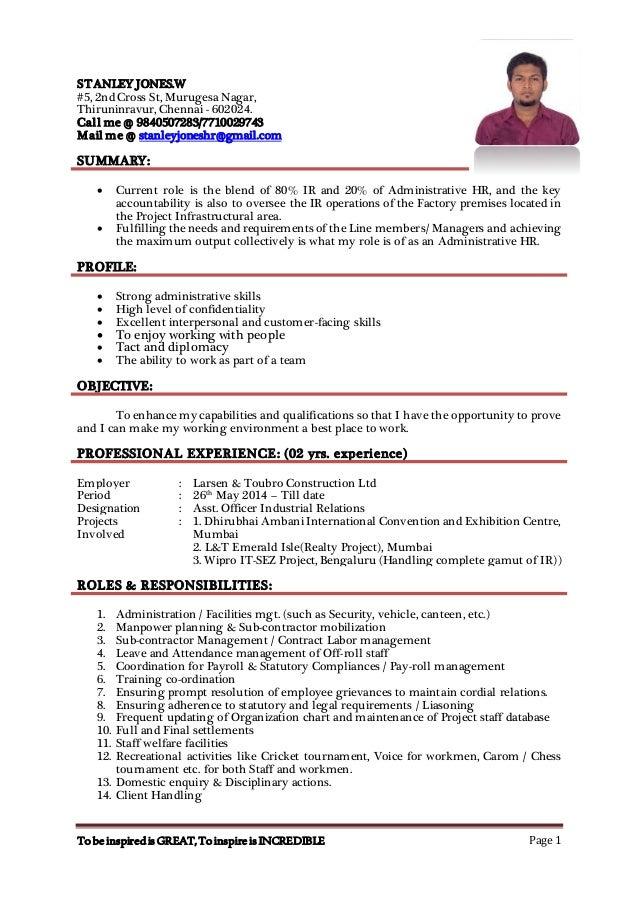 stanley resume 2
