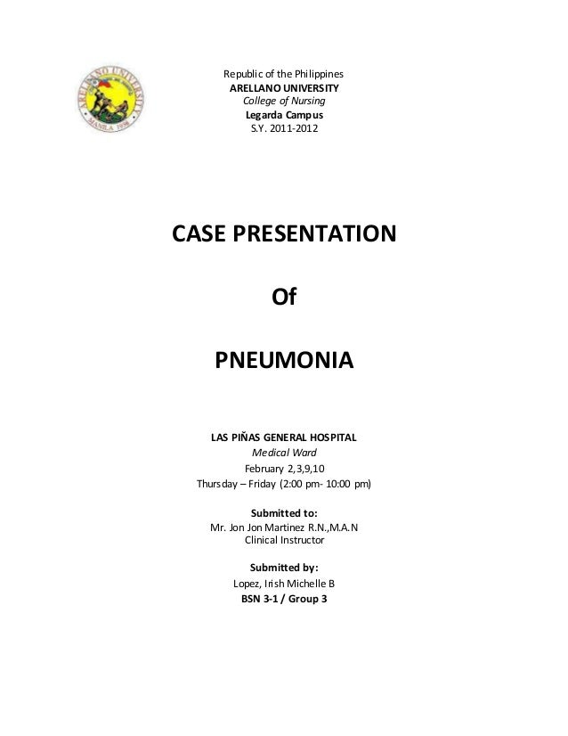 pneumonia case study questions Hesi case study - copd with pneumonia which outcome statement is the best indicator that mr johnson's pneumonia is resolves and he is ready to be discharged.