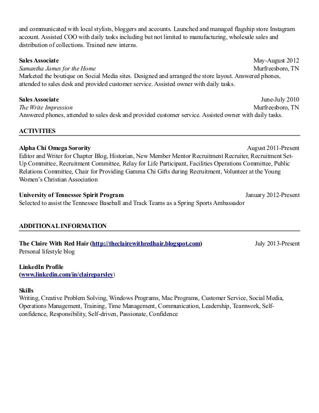 harvard style resume 1 26 15