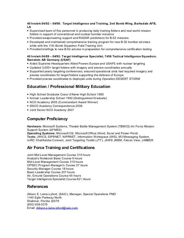 Manager program radar resume
