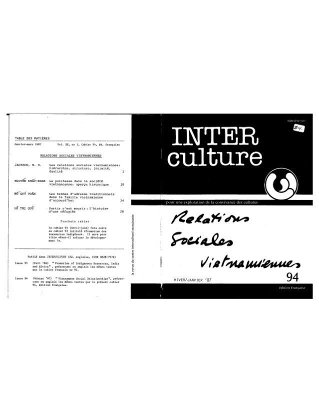 94 les relations sociales vietnamiennes. jackson, nguyen, dô, lê. (document à télécharger en format pdf, 1,3 mb).