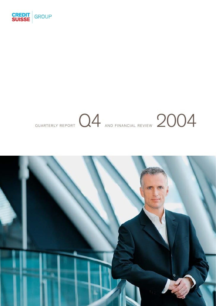 credit-suisse Quarterly Report Q4/2004