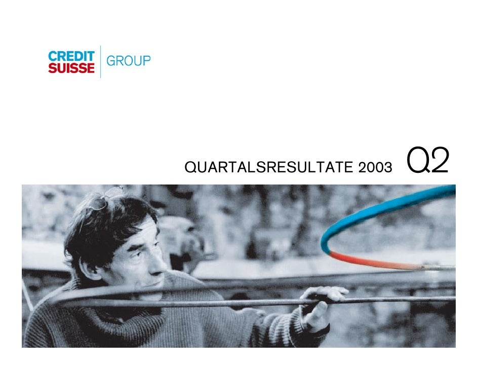 Q2 QUARTALSRESULTATE 2003                               Folie 0