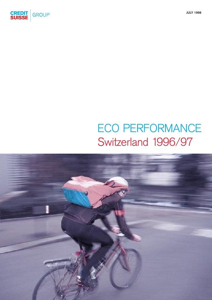 JULY 1998     ECO PERFORMANCE Switzerland 1996/97