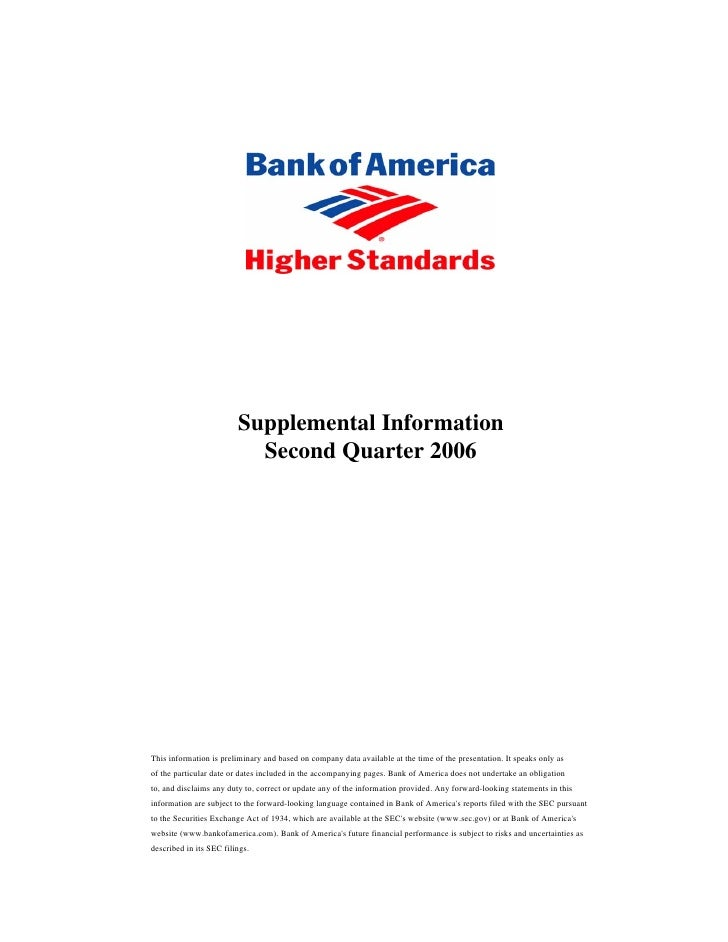 Supplemental Second Quarter 2006 Financial Information
