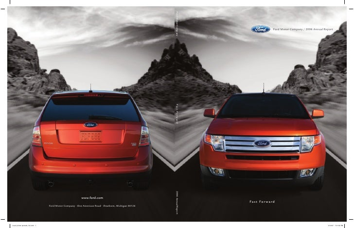 Ford Motor Company / 2006 Annual Report     Fast Forward