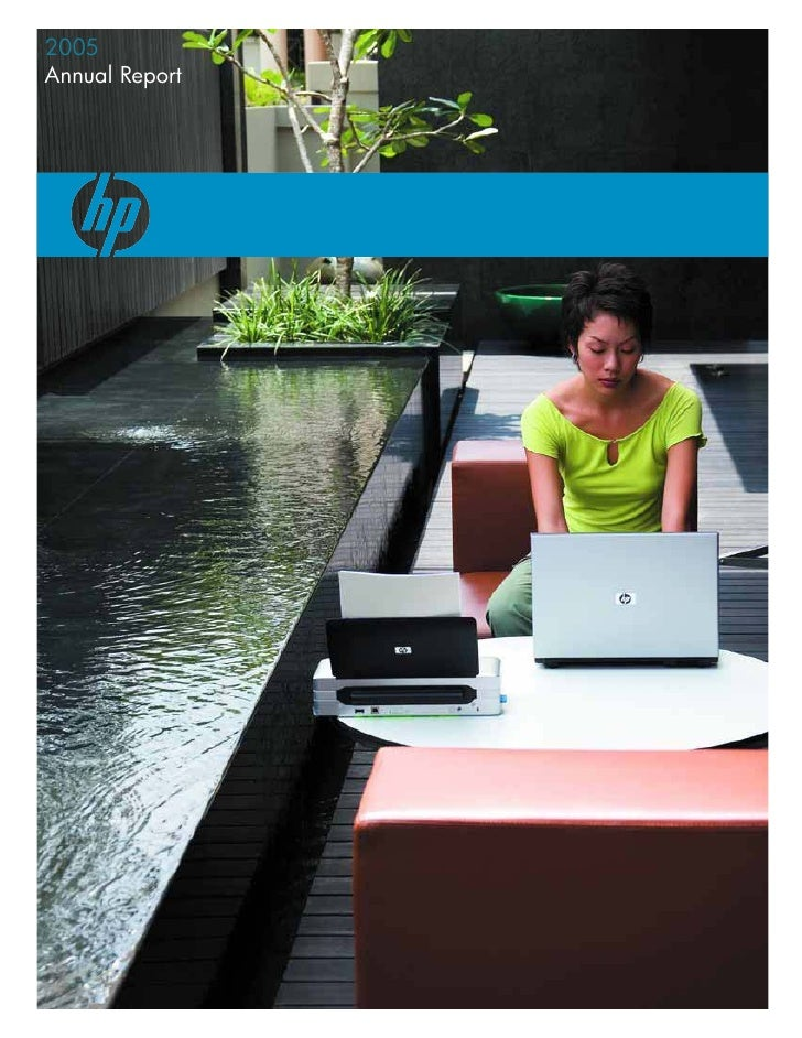 hp 2005 annual report (with graphics)