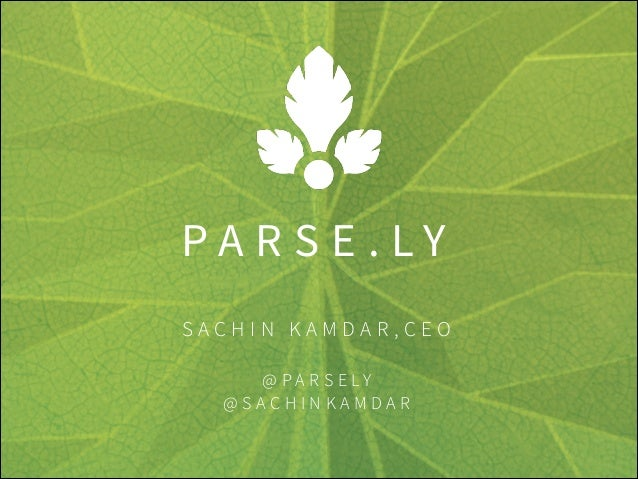 Tech Talk with Parse.ly: How Using Data Can Bring Clarity to the Newsroom