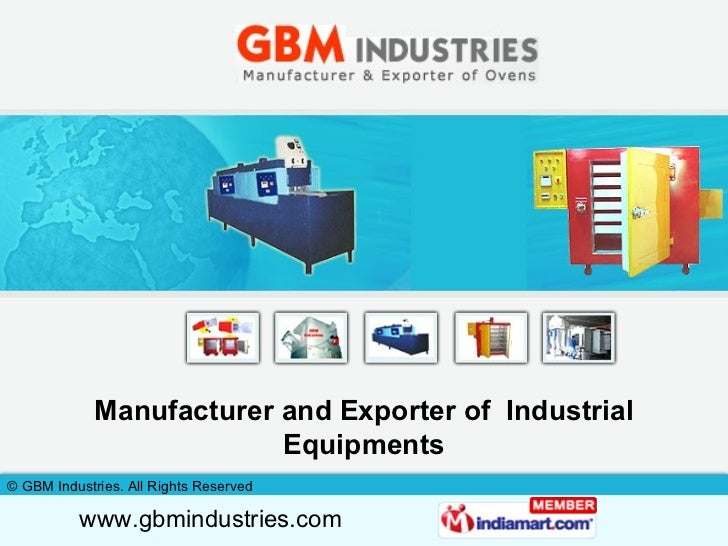 Manufacturer and Exporter of  Industrial Equipments