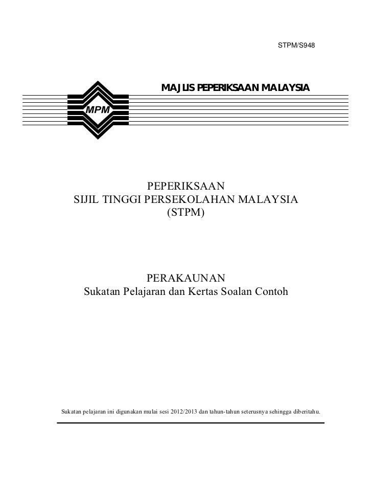 STPM/S948                                      MAJLIS PEPERIKSAAN MALAYSIA                 PEPERIKSAAN    SIJIL TINGGI PER...