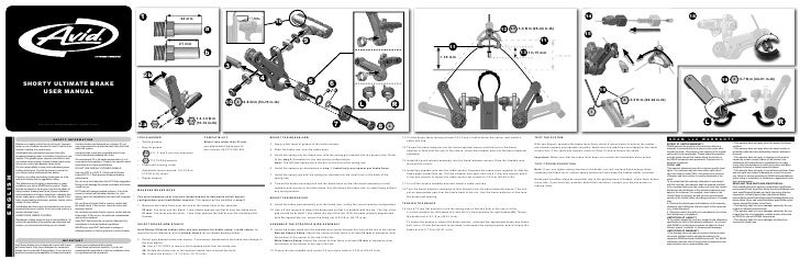 Avid Shorty Ultimate Instructions