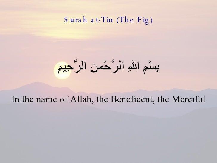 95   Surah At Tin (The Fig)