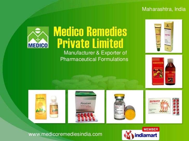 Maharashtra, India <br />Manufacturer & Exporter of <br />Pharmaceutical Formulations<br />