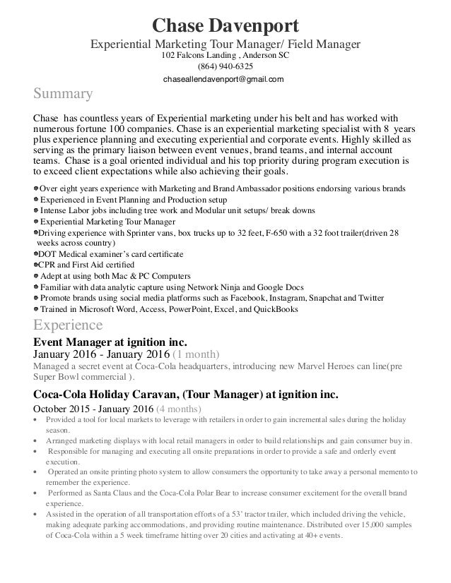 tour manager resume assistant tour manager resume sales assistant – Tour Manager Resume
