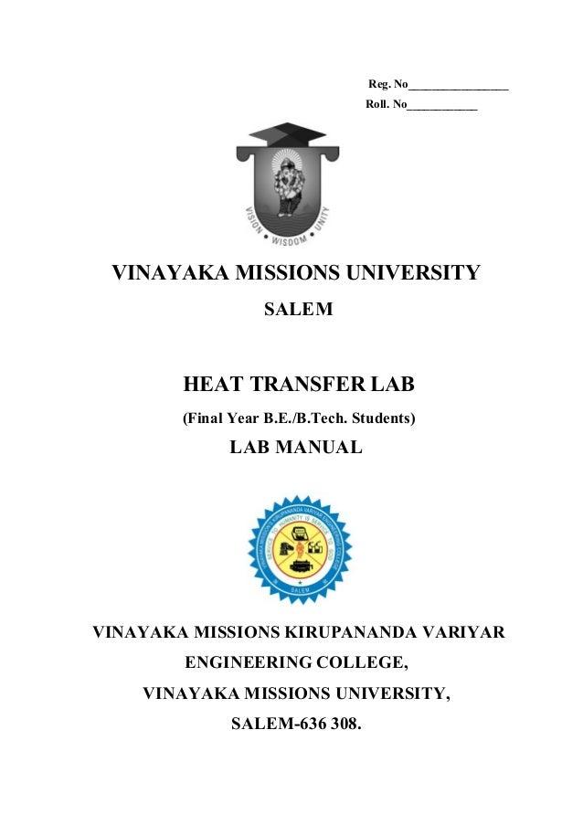 95396211 heat-transfer-lab-manual