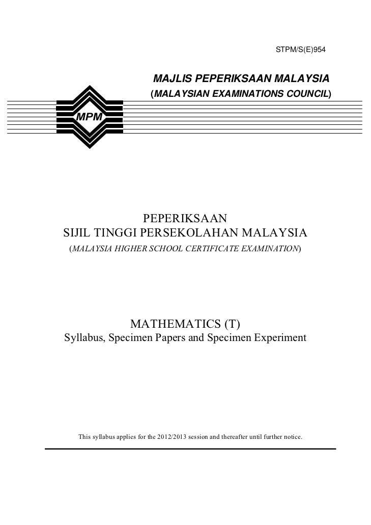 STPM/S(E)954                             MAJLIS PEPERIKSAAN MALAYSIA                            (MALAYSIAN EXAMINATIONS CO...