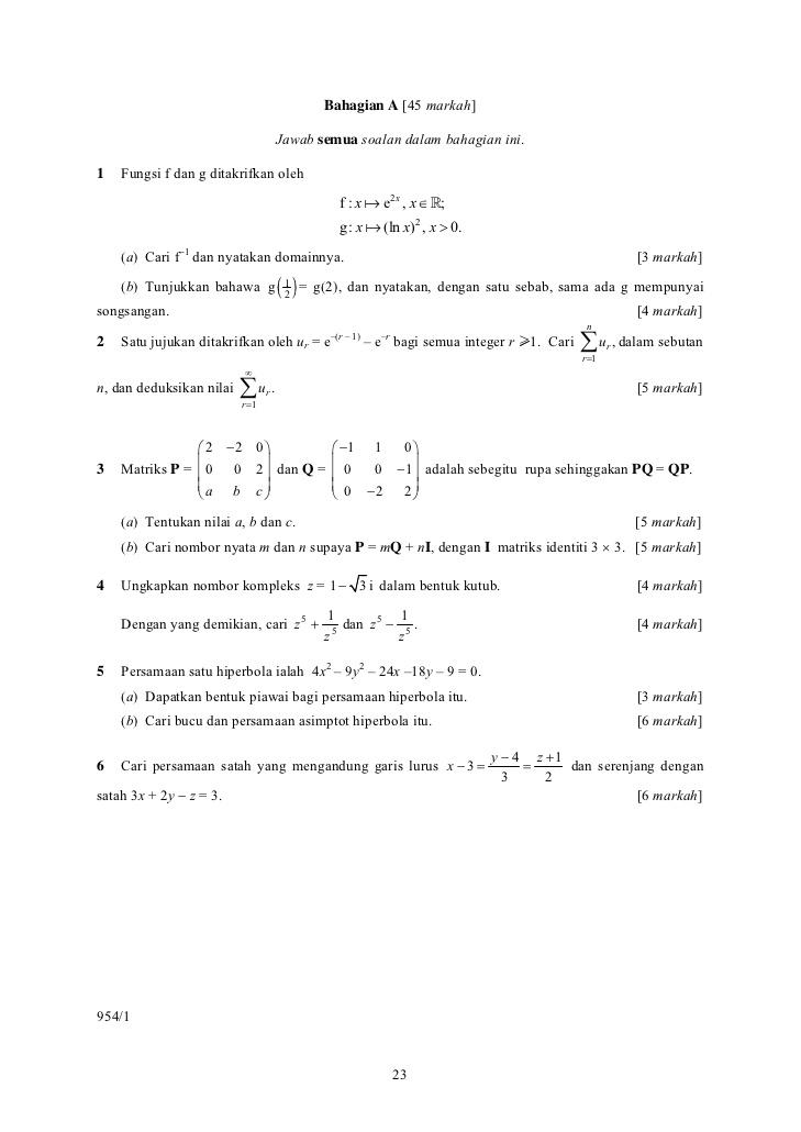 stpm math t coursework sem 2 2015 | easyorderessay eu - free downloads