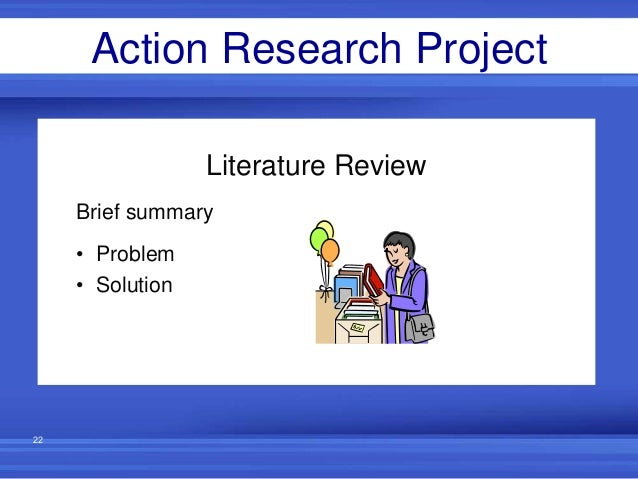 literature review for action research project