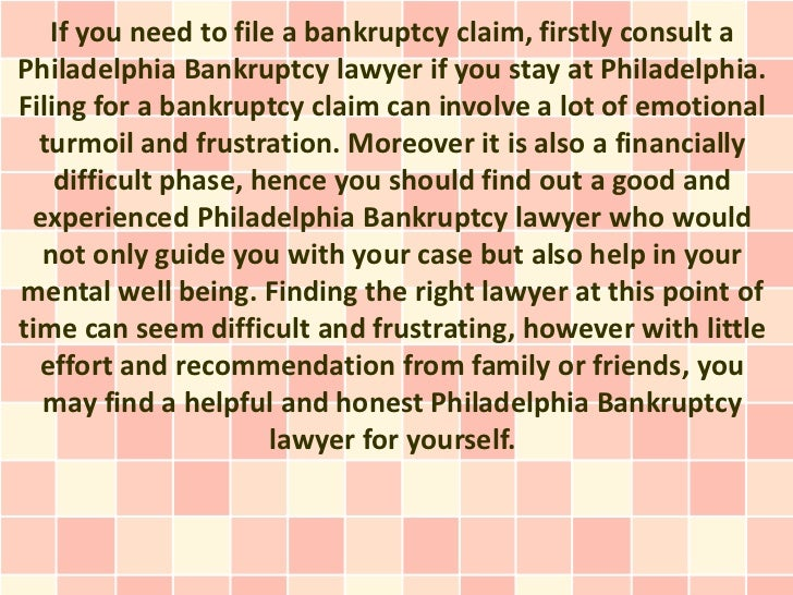 Choose the correct Philadelphia Bankruptcy lawyer