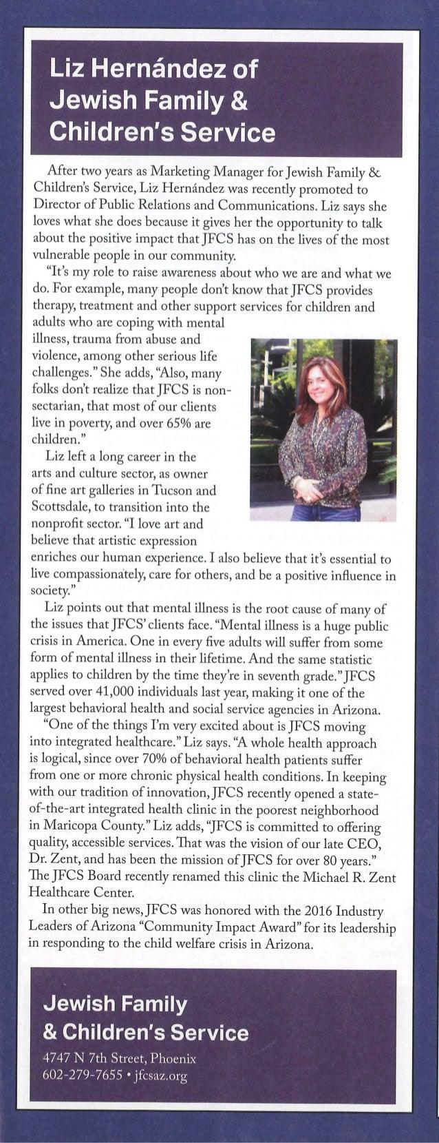 Liz in Jewish Life Magazine
