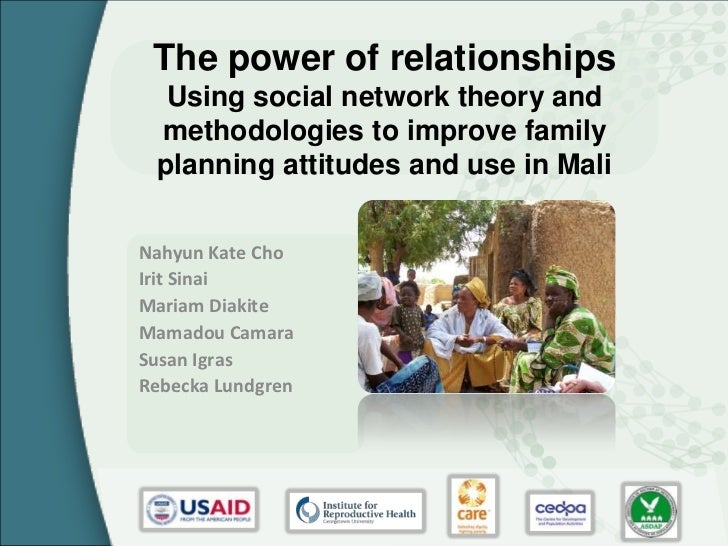 The power of relationships  Using social network theory and methodologies to improve family planning attitudes and use in ...