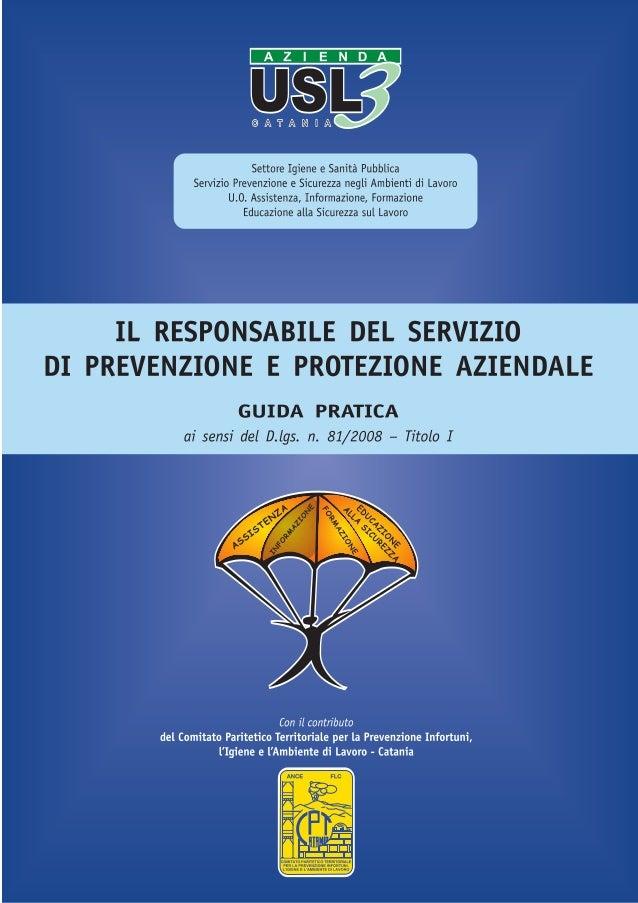 Settore Igiene e Sanità Pubblica                 Servizio Prevenzione e Sicurezza negli Ambienti di Lavoro                ...