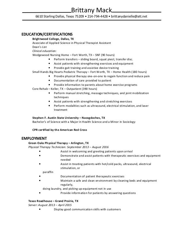 aba therapist resume samples contegricom pta