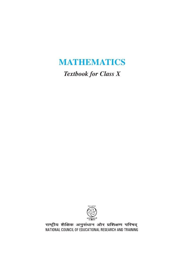 MATHEMATICSTextbook for Class X