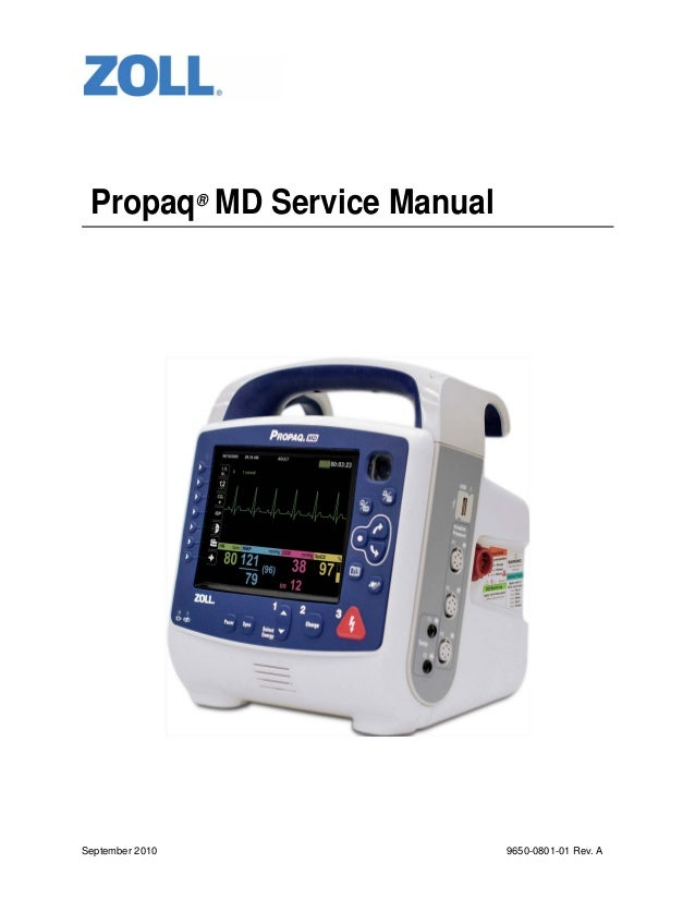 Propaq® MD Service Manual  September 2010  9650-0801-01 Rev. A