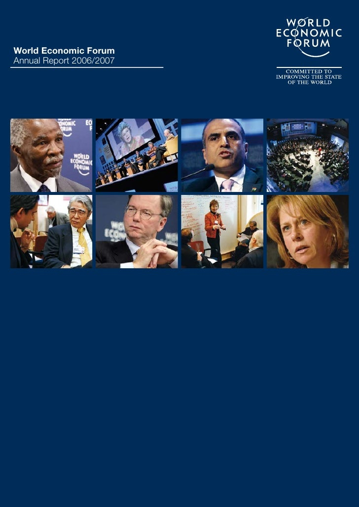 world economic forum Annual Report 2007