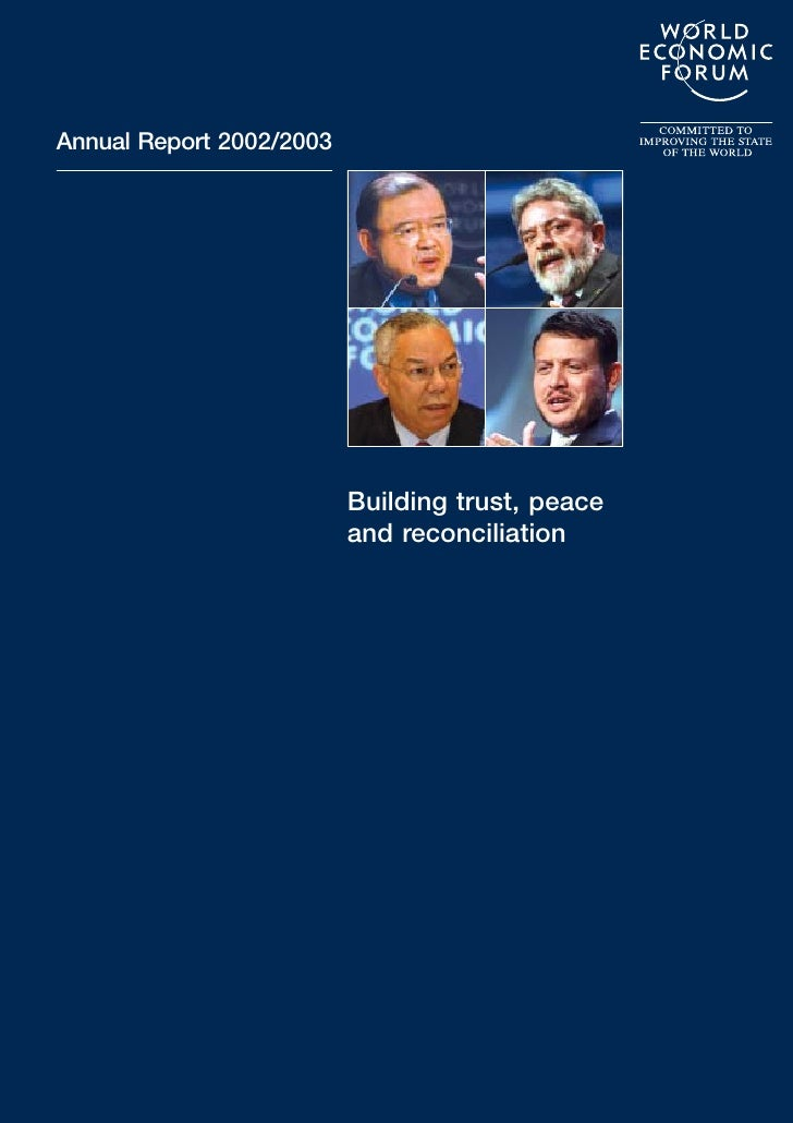 world economic forum Annual Report 2002/2003