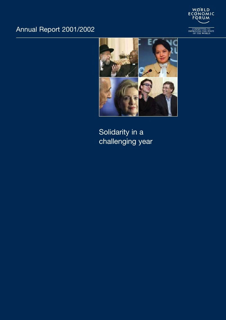Annual Report 2001/2002                               Solidarity in a                           challenging year