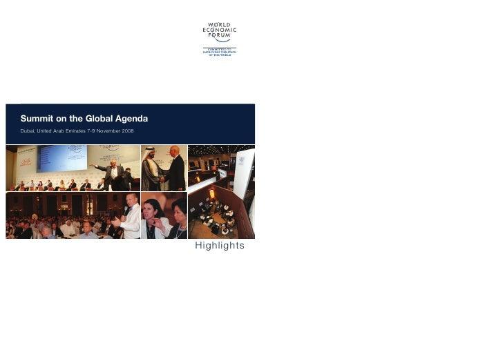 Summit on the Global Agenda2008