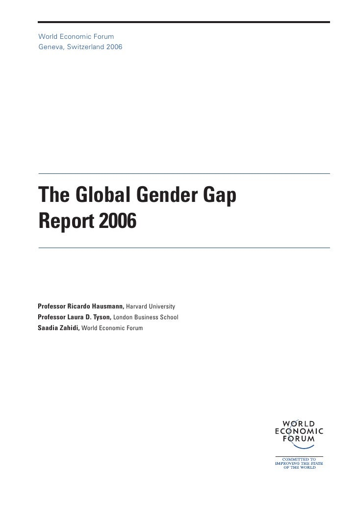 Global Gender Gap Report 2006