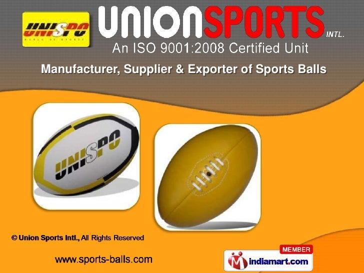 Manufacturer, Supplier & Exporter of Sports Balls