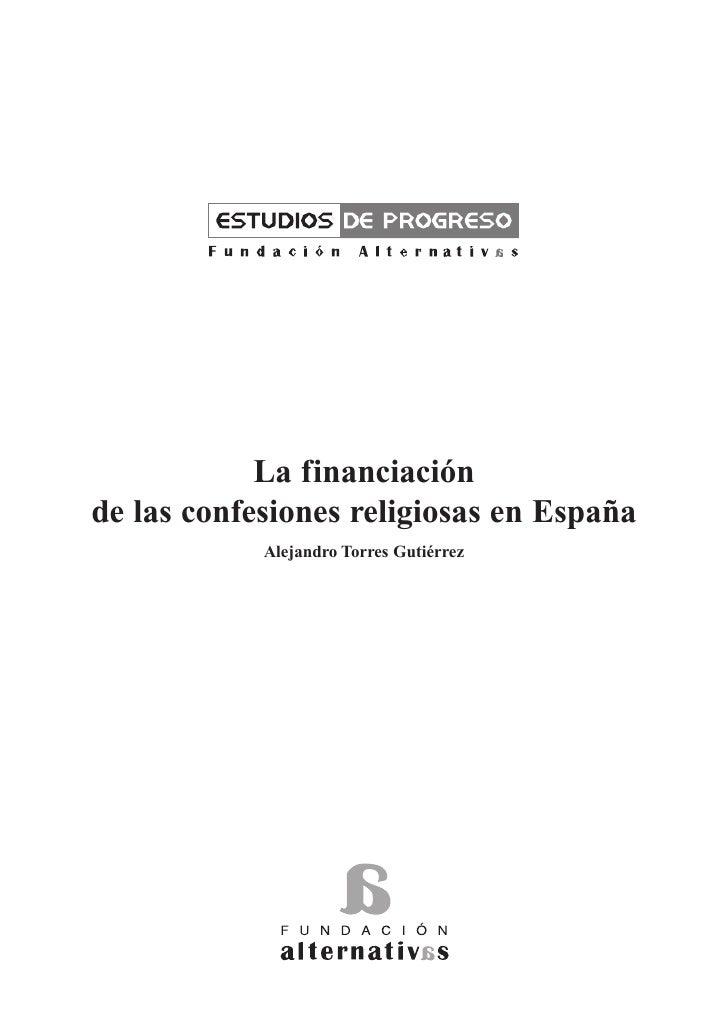 La financiación de las confesiones religiosas en España