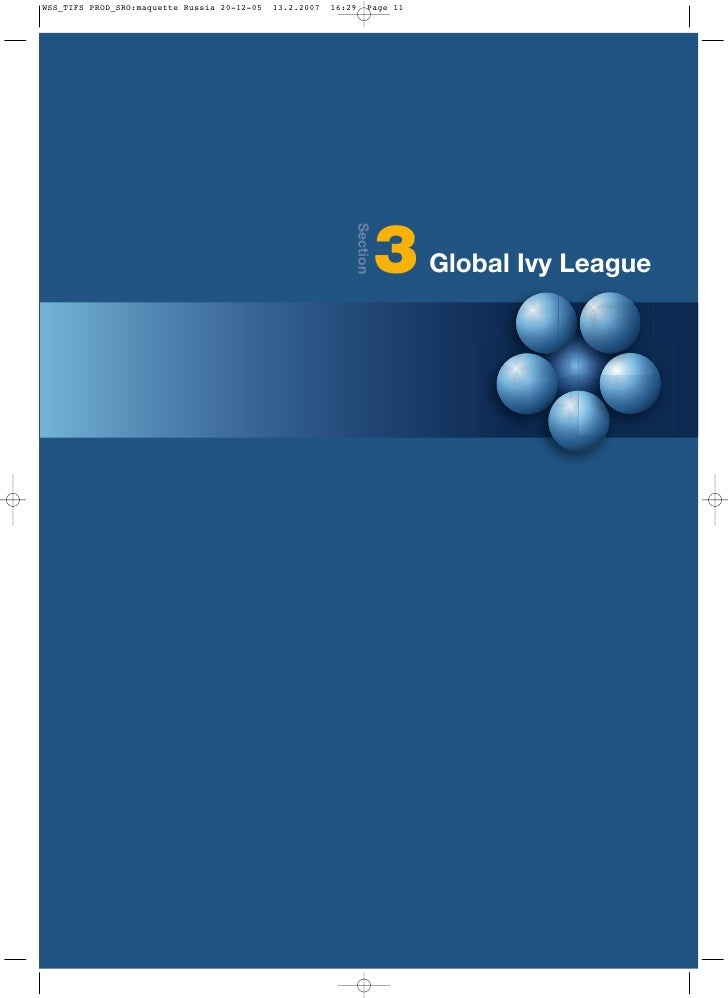 Section           3   Global Ivy League