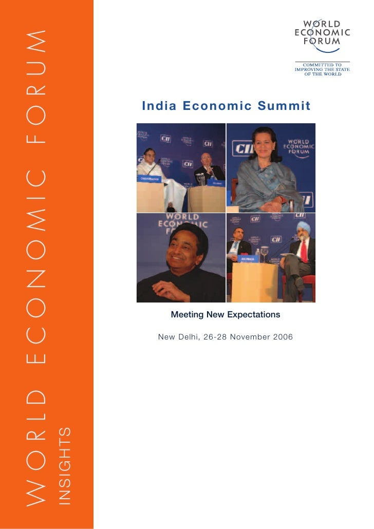 WORLD ECONOMIC FORUM                                    India Economic Summit                                           Me...