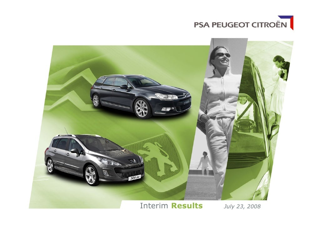 Peugeot  Financial Results for the 1st half of 2008