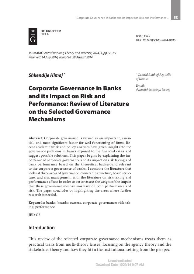 thesis on corporate governance in ghana I, khaled otman, declare that the phd thesis entitled corporate governance and firm performance in listed companies the united arab emiratesin is no more.
