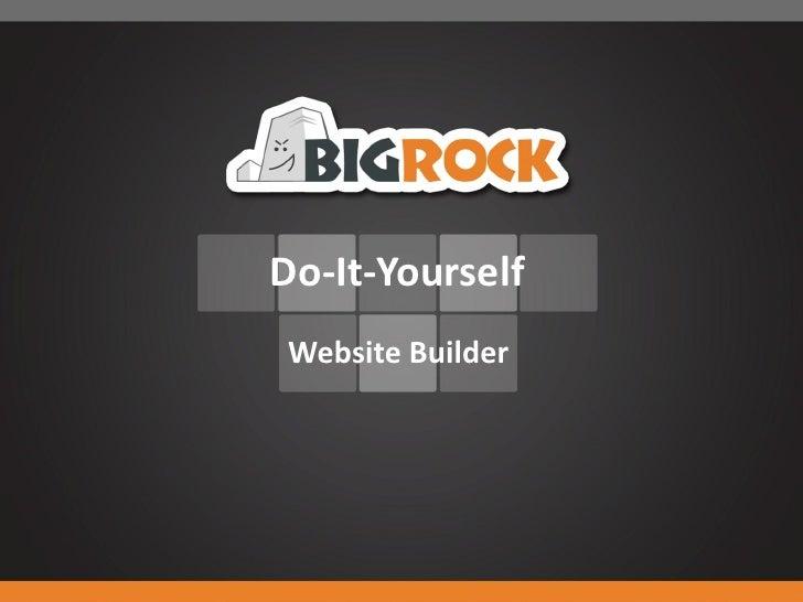Do-It-YourselfWebsite Builder